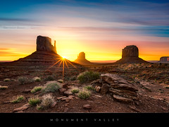 Monument Valley (Beboy_photographies) Tags: arizona monument sunrise de soleil utah valley flare monumentvalley hdr lever leverdesoleil dsert