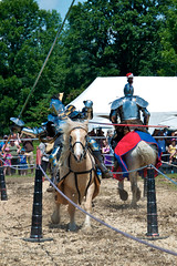 Hit! (lynn.h.armstrong) Tags: camera trees red horses ontario canada men green art festival metal lens geotagged photography photo hit interesting mac aperture nikon long flickr village zoom south images tent medieval full lynn upper h lance getty nikkor joust armstrong armour jousting stormont vr licence afs request gallop dx sault attribution ingleside 2011 ifed 18200mm morrisburg f3556 noderivs vrii jousters d7000 lynnharmstrong
