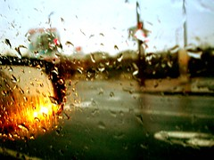 With my feet on the dash (emilygagnon) Tags: motion car rain passenger passengerseat