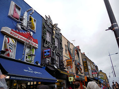 London. Camden Town. Camden High Street markets (R come Rit@) Tags: city london buildings fun camden shops stores londra citta negozi camdenhighstreet camdenmarkets arethesebuildings ritarestifo