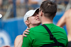 Proposal Accepted (real.tingley) Tags: kiss crying proposal embrace 2012bostonmarathon