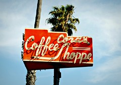 Cora's Coffee Shoppe (Cragin Spring) Tags: california ca city urban coffee sign vintage losangeles neon westcoast oldsign corascoffeeshop