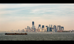 [ Nothing is Impossible ] (bonnix (Scotty)) Tags: nyc newyorkcity blue sky water ferry skyline clouds buildings ship skyscrapers towers nikkor8020028 nikond700 oneworldtradecenter