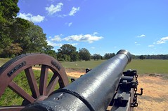 Battle Field of the American Revolution (janetfo747) Tags: usa weather virginia george gun day battle canyon victory clear civilwar va revolution cannon artillery yorktown historical georgewashington powerful commonwealth explosive gunpowder firepower warfare couldy battlefiled