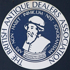 THE BRITISH ANTIQUE DEALERS ASSOCIATION (Leo Reynolds) Tags: sign canon eos iso800 sticker 300mm 7d squaredcircle f67 hpexif 0002sec sqyork xleol30x sqset077