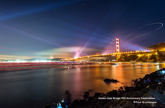 Golden Gate Bridge 75th Anniversary Celebrations (davidyuweb) Tags: sanfrancisco california bridge usa fire golden gate long exposure anniversary celebrations works 75th