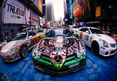 Incredible Times square (V.Alexis) Tags: alexis photography star photographie 3000 gumball ze 2012 5mm alexzestar 5mm7 mercedesslrporscheturbocadillactimessquarenewyorknewyorkmercedesbenzmanhattanpublicitypublicitpanasonicgf3samyangfisheyefisheye7 valexis