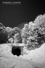 Tunnel (Sandsend) (ScudMonkey) Tags: heritage monochrome canon 350d blackwhite tunnel mining infrared northyorkshire manfrotto filtered sandsend uwa r72 804rc2 paulbradley efs1022mmf35 055xprob
