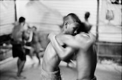 (Sakulchai Sikitikul) Tags: street bw film zeiss thailand 50mm kodak bessa 15 200 boxer boxing muaythai sonnar r2a