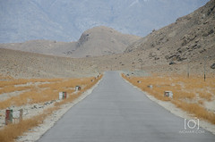 Way to Shigar - Skardu (M.Omair) Tags: road city autumn winter brown white snow tree water beautiful yellow fog clouds river sand nikon desert fort top peak valley omair leafs indus vr 18105 skardu baltistan shigar virgomair d7000 imomair kharpachu gilgitl