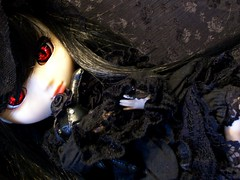 Gothic Lolita~ (~LadyDeath~) Tags: black rabbit stuffed lace gothic stock lolita demon pullip cornice stica reznya