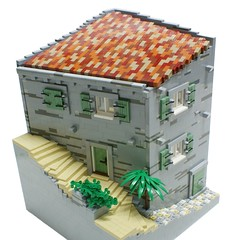Mediterranean house (Matija Grguric) Tags: house coast town lego croatia wip creation adriatic moc mediterraen matijagrguric
