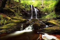 Waterfall Kenmore Perthshire (angus clyne) Tags: road summer tree green forest flow scotland waterfall moss spring stream time angus path hill perthshire scottish fresh highland burn trunk lush splash kenmore clyne