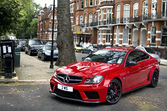 Black Series. (Alex Penfold) Tags: auto street camera red 2 black london cars alex sports car sport mobile canon photography eos mercedes benz photo cool flickr image bs c south awesome flash picture super spot 63 exotic photograph ms series spotted hyper kensington supercar spotting exotica sportscar 2012 sportscars supercars merc penfold spotter blackseries hypercar c63 60d 2ms hypercars alexpenfold