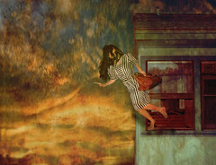 Desperation (MKStallings Photography) Tags: selfportrait texture photoshop vintage photography jump escape surrealism surreal desperate prison jail nostalgic conceptual conceptualphotoraphy brookeshadentexture