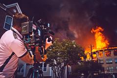 DSCF2545 (EdwardFotoLogue) Tags: street news black station fire dallas texas apartment smoke reporter houston fujifilm abc unreal firefighter complex department marconi 2014 ireport journlist x100 hfd abc13 iwitness