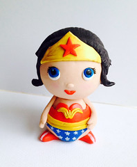 wonderwoman (CakeFreak) Tags: woman cake wonder superhero topper fondant gumpaste