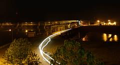 Teesta Barrage- night shot (Nitya...) Tags: light nikon nightshot streak structure trail civil barrage notripod nikkor1685 gajoldoba teestabarrage