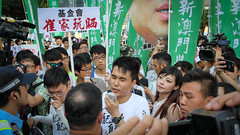 5-15-2016_Demonstration_MPA_20 (macauphotoagency) Tags: china new money streets outdoors university chief police government block macau demonstrations executive sai donations association chui macao on may15 protestants policeforce 5152016 newmacauassociation insatisfation