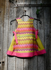 chevron dress (size 3 years 3 ans taille) (paysmage) Tags: colors design clothing colorful pattern dress sewing crafts collection fabric cotton trend coordinates seamless designers chevrons stiching spoonflower paysmage