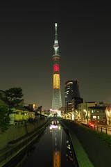 P5220477 (Zengame) Tags: tower japan architecture night pen tokyo belgium illumination landmark olympus illuminated jp   belgian zuiko  penf     skytree   tokyoskytree  mzuiko 12mmf20 mzuikodigitaled12mmf20 livecomposite