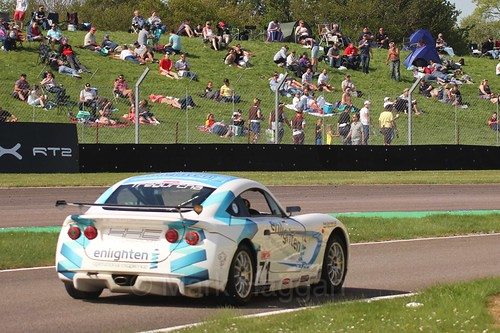 Will Tregurtha in the Ginetta Juniors Race during the BTCC Weekend at Thruxton, May 2016