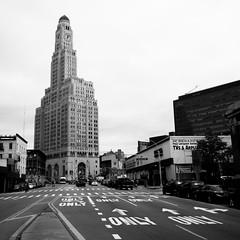 Williamsburgh Savings Bank Tower (Richard Lehoux) Tags: new york blackandwhite bw newyork brooklyn blackwhite streetphotography atlantic