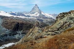 das Matterhorn (welenna) Tags: blue schnee summer sky mountain snow mountains alps landscape switzerland view swiss berge gornergrat matterhorn alpen landschaft wallis schwitzerland