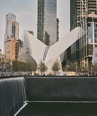 Oculus / WTC Memorial (Thomasaurus) Tags: newyork film memorial worldtradecenter calatrava oculus downtownmanhattan mamiya7ii