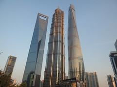 The three giants of Shanghai (Germn Vogel) Tags: china city urban building skyline architecture modern skyscraper three asia cityscape shanghai outdoor record modernarchitecture jinmaotower urbanlandscape tallest modernity eastasia contemporaryarchitecture shanghaitower shanghaiworldfinancialcenter buildingcomplex architecture