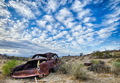 Busted Car (Jeff Powers) Tags: california sky car clouds rust ridgecrest