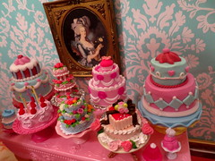 Let them eat cake..... (Primrose Princess) Tags: paris france doll chandelier versailles blythe pastries takara marieantoinette diorama dollhouse laduree blythedoll macaron queenoffrance frenchpastries mohairreroot glutenfreebaking
