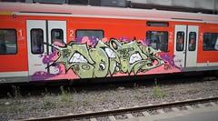 Graffiti (Honig&Teer) Tags: railroad streetart train graffiti steel eisenbahn hannover db urbanart deutschebahn sbahn railways treno aerosolart spraycanart traingraffiti trackside trainart railroadgraffiti dbregio honigteer eisenbahngraffiti