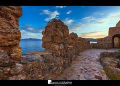 Monemvasia 2016 the return (V) (Yiannis Chatzitheodorou) Tags: sunset castle greece walls monemvasia peloponnese