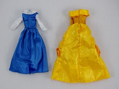 Beauty and the Beast Deluxe Doll Set - US Disney Store Purchase - Deboxed - Belle's Blue and Yellow Outfits - Rear View (drj1828) Tags: disneystore purchase doll dollset deluxe beautyandthebeast belle outfit ballgown accessory deboxed peasant blue yellow
