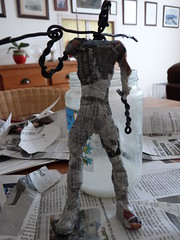Robin WIP (Copnfl) Tags: robin batman dccomics dc comics papiermâché fildefer wire journal sculpture wip