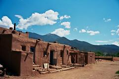 Taos Pueblo (AbandonedRoadWarrior) Tags: door new travel mountain west mexico desert indian pueblo adobe taos
