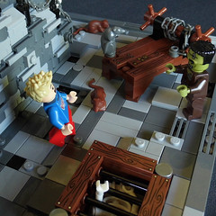 Fourth Scary Moment (fuggoo) Tags: lego bear project monster museum frankenstein ghost ghosts photography minifigure minifigures castle scary spooky horror tower dracula