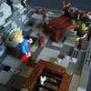 Fourth Scary Moment (Sweeney Todd, the Lego) Tags: lego bear project monster museum frankenstein ghost ghosts photography minifigure minifigures castle scary spooky horror tower dracula