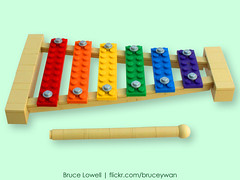LEGO Xylophone (bruceywan) Tags: sculpture music kids children toy lego bruce photostream xylophone lowell moc brucelowellcom