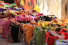 Colours of the old city...Cartagena de Indias (SamSpade...) Tags: pink blue red orange black green yellow canon colombia purple crafts woven 402 cartagenadeindias theartofweaving 289512feb coloursofcartagena