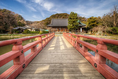 Red Bridge (arcreyes [-ratamahatta-]) Tags: japan landscape colorful day cloudy  yokohama   hdr  redbridge kanazawabunko 3xp kanagawaprefecture   kanazawaward agustinrafaelreyes