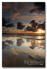 Reflection sunset - Explore #109  17/04/12 (Simon Bone Photography) Tags: sea sky cloud sun reflection beach silhouette sand shiny cornwall wetsand porthtowan cornishcoast canon1740mmlf4 cornishsunsets wwwthehidawaycouk canoneos7d reflectionbeach hitechnd09reversegrad