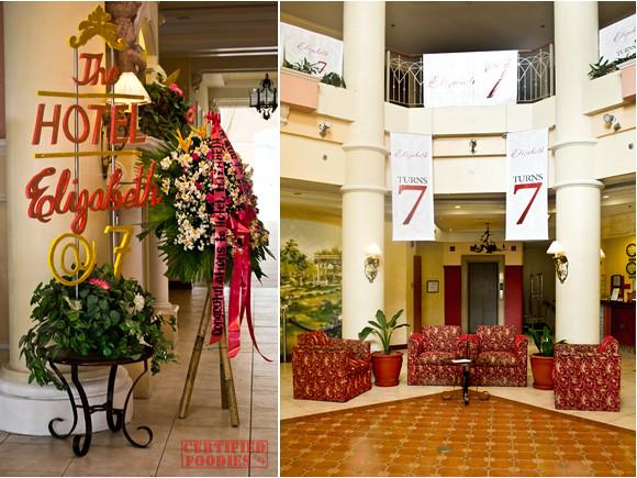 Hotel Elizabeth's atrium
