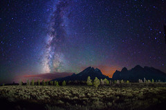 "Starry night over Grand Teton Range (IronRodArt - Royce Bair (""Star Shooter"")) Tags: lightpainting bravo nightscape wyoming grandtetons nightscapes starrynight milkyway tetonrange grandtetonnationalpark starrynightsky"