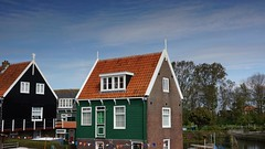 Marken-holland (GOFORUS) Tags: houses sea haven holland water boats wooden harbour nederland marken