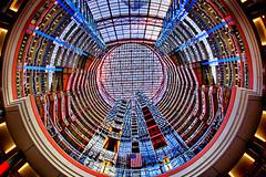 3-2-1-Liftoff! (Jeff_B.) Tags: chicago abstract modern circle illinois postmodern geometry interior lookup lobby atrium 1985 postmodernism helmutjahn statebuilding jamesrthompsoncenter stateofillinoiscenter