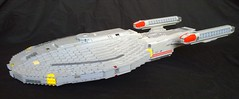 USS Minotaur (Babalas Shipyards) Tags: trek star ship lego space scifi federation starship microscale