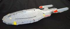USS Minotaur (Babalas Shipyards) Tags: trek star ship lego space scifi federation starship microscale