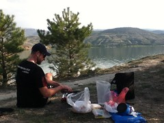 """Making dinner with a lake view • <a style=""""font-size:0.8em;"""" href=""""http://www.flickr.com/photos/60941844@N03/7166278882/"""" target=""""_blank"""">View on Flickr</a>"""